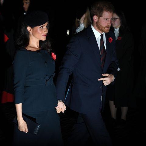 Herzogin Meghan und Prinz Harry am 11. November 2018 in London