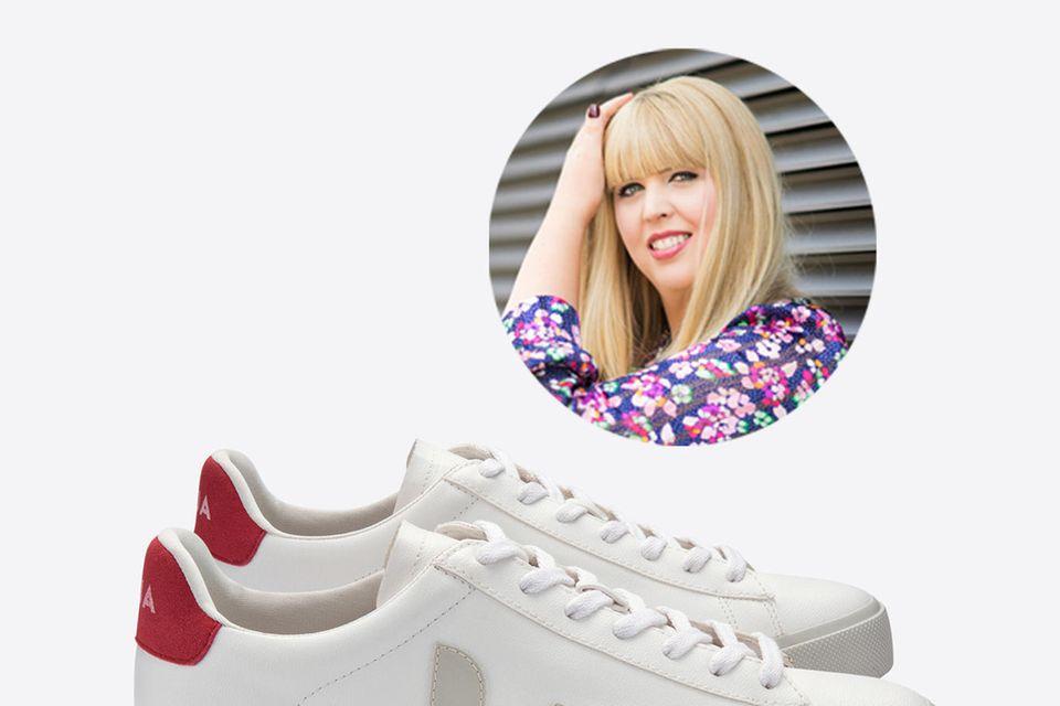 Redakteurin Nane trägt zum ersten Mal einen veganen Sneaker.