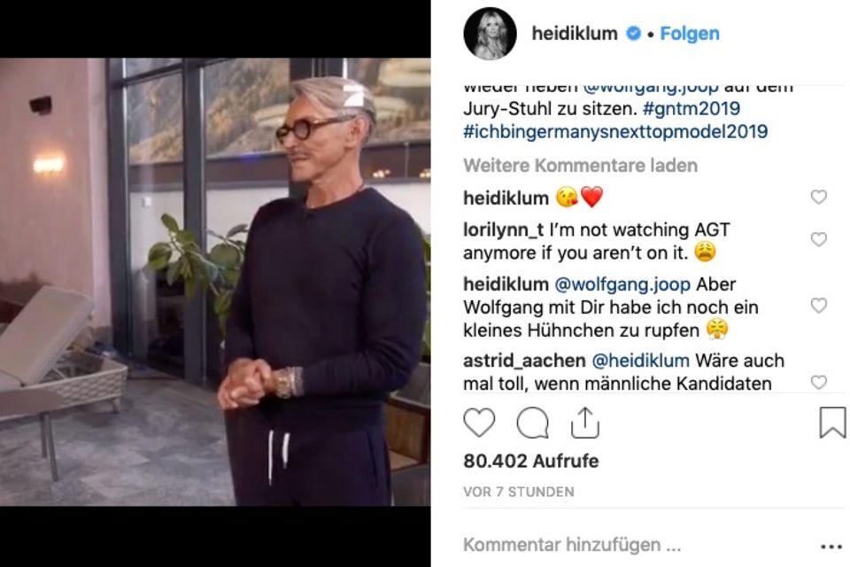 Heidi Klum wendet sich an Wolfgang Joop
