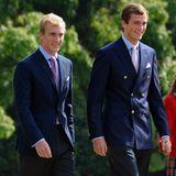 Auch Prinz Joachim von Belgien (l.), ein Neffe des belgischen Königs Philippe,ist noch auf dem Markt.