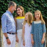 Glückliche Familie:König Felipe und Königin Letizia haben zwei Töchter: Prinzessin Sofia und Prinzessin Leonor.