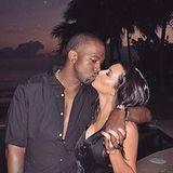 Kim Kardashian teilt süße Pärchenfotos über Instagram und wünscht ihrer großen Liebe, Kanye West, einen frohen Valentinstag.