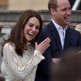 Das Geheimnis ihrer glücklichen Ehe? Herzogin Catherine und Prinz William können oft und viel zusammen lachen.