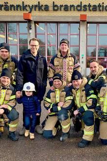 15. Februar 2019  Heute besuchten Prinz Daniel und Söhnchen Prinz Oscar die Feuerwache Brännkyrka, südlich von Stockholm...