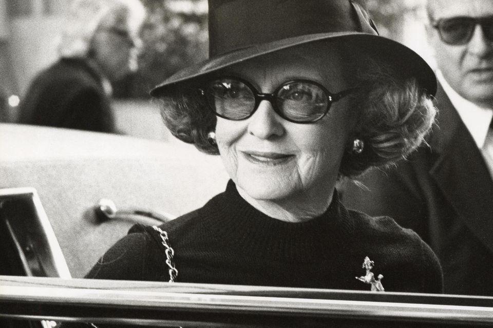 Möchte an der Namensgebung des Oscars mitgewirkt haben: Schauspielerin Bette Davis im März 1978 in Beverly Hills.