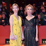 Sandra Hüller zeigt sich im gelben Look schon frühlingshaft, Trudie Styler hingegen nutzt den letzten Berlinale-Abend noch mal als Gelegenheit einen eleganten Glamour-Look zu präsentieren.
