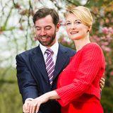 26. April 2012  Guillaume von Luxemburg und Stéphanie de Lannoy geben ihre Verlobung bekannt.