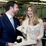 12. April 2013  Beider Besichtigung des Betonhersteller Chaux de Contern werfen sich die beiden verliebte Blicke zu.