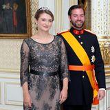 23. Juni 2014  Stéphanie und Guillaume von Luxemburg posieren zum Nationalfeiertag.