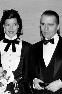 Mit Prinzessin Caroline von Monaco (hier 1985 mit deren früheren Ehemann Stefano Casiraghi, der 1990 ums Leben kommt) verbindet den deutschen Designer eine jahrzehntelange Freundschaft.
