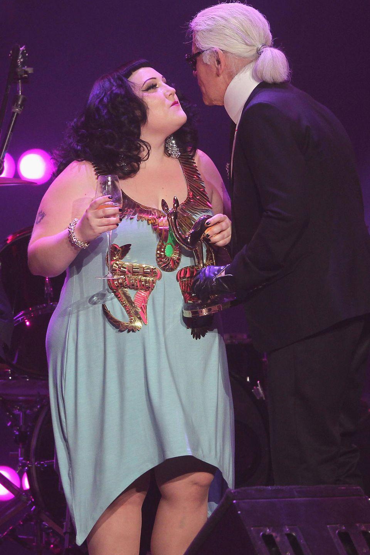 Auch Sängerin Beth Ditto wird seine Muse.