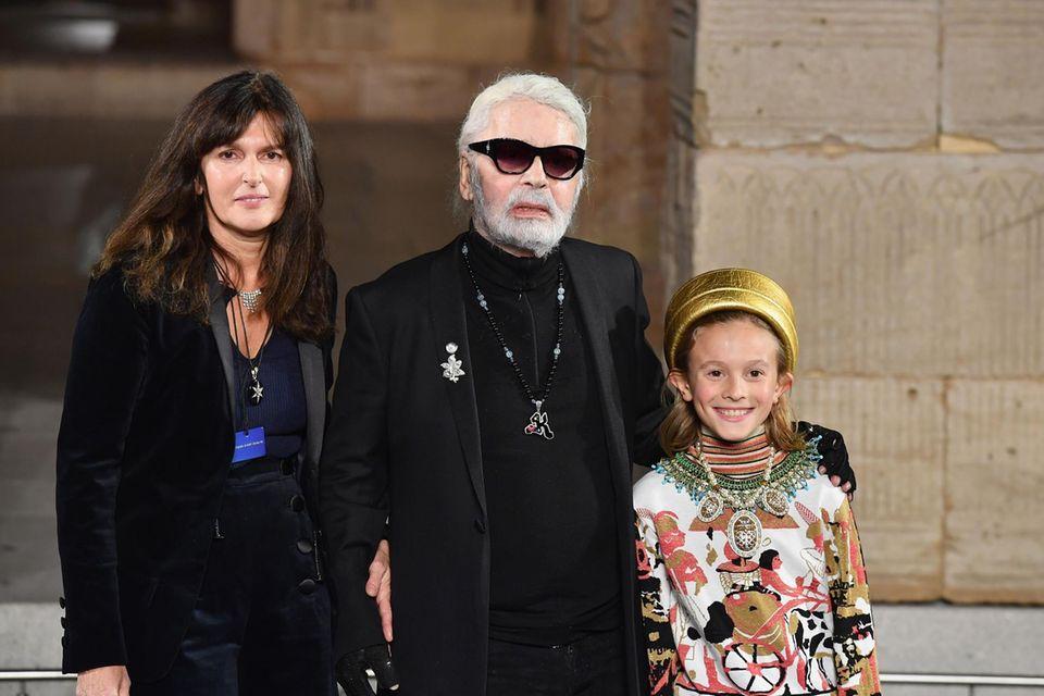 Karl Lagerfeld bei seiner letzten Show im Dezember 2018