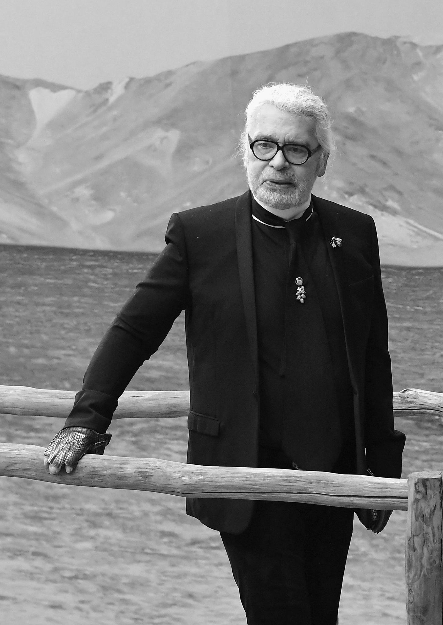 Karl Lagerfeld (†) im Oktober 2018