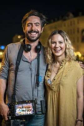 Behind the Scenes: Regisseur David Dietl und Schauspielerin Alicia von Rittberg