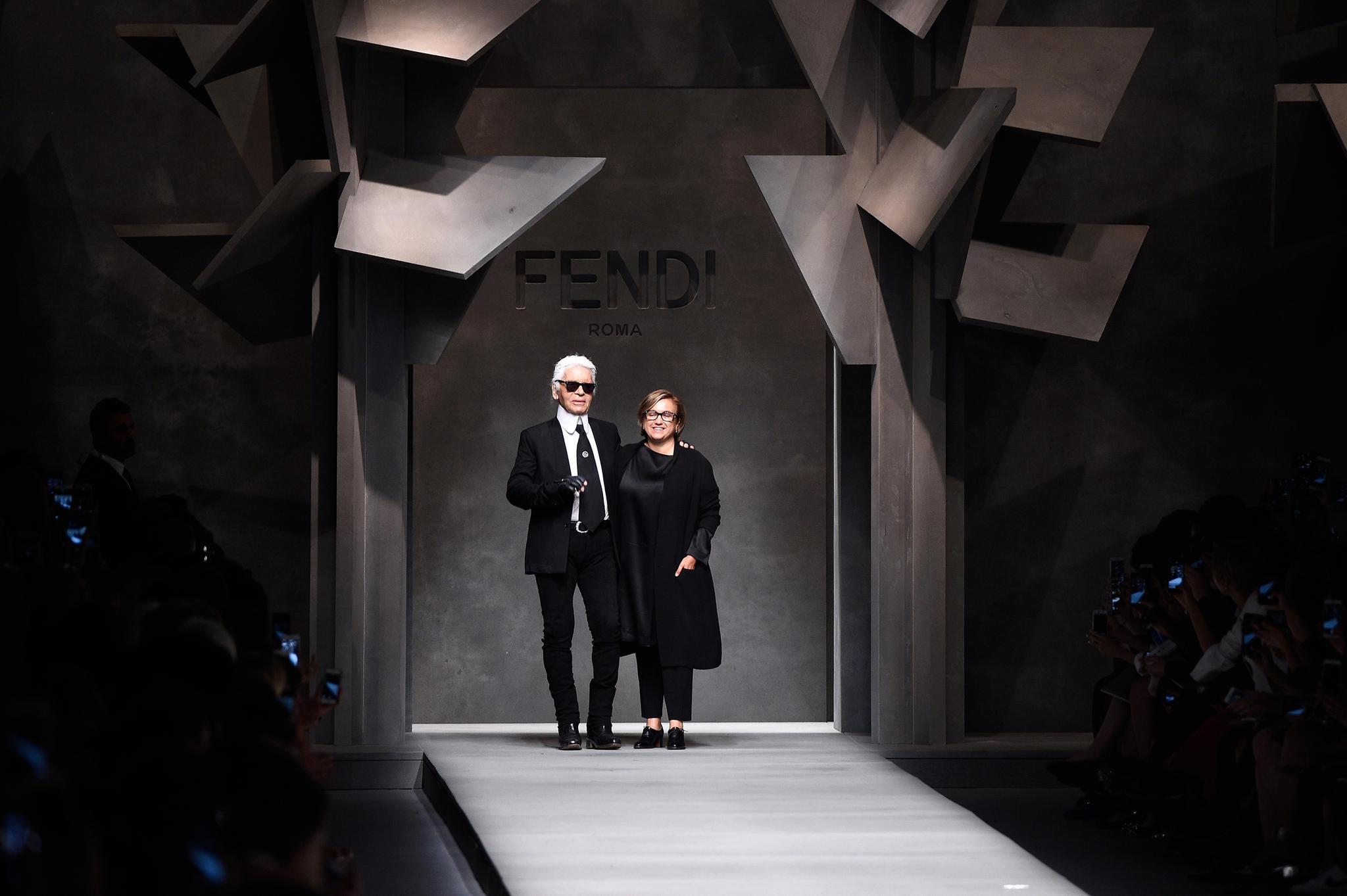 Karl Lagerfeld undSilvia Venturini Fendi.