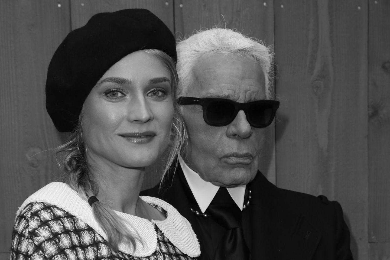Diane Kruger und Karl Lagerfeld.