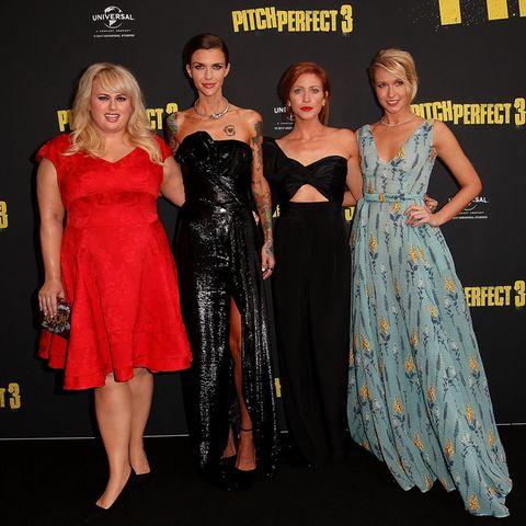 """""""Pitch Perfect""""-Darstellerinnen Rebel Wilson, Ruby Rose, Brittany Snow und Anna Camp"""