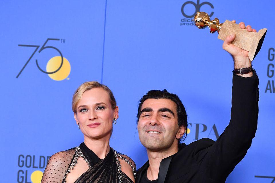 """Diane Kruger und Fatih Akin wurden für das NSU-Drama """"Aus dem Nichts"""" mit dem Golden Globe ausgezeichnet"""