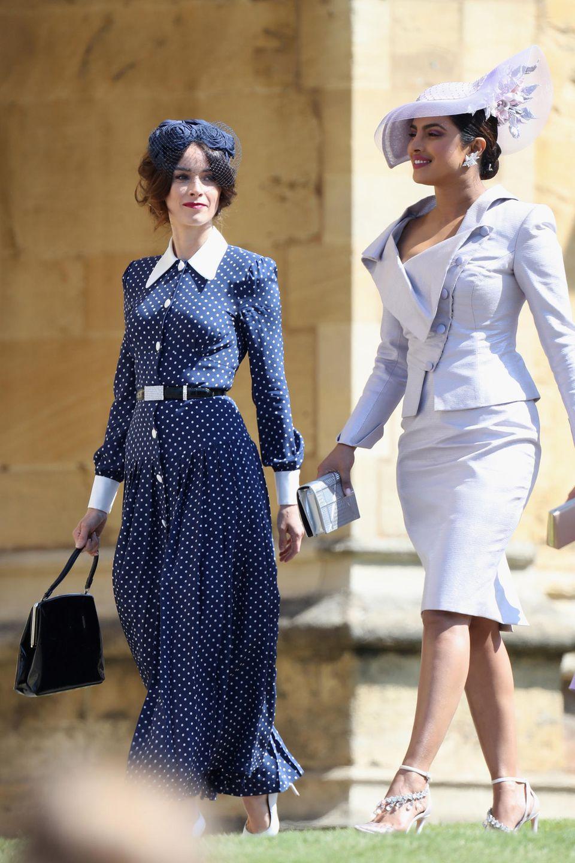 Abigail Spencer und Priyanka Chopra auf Schloss Windsor bei der Hochzeit des Herzogpaares von Sussex
