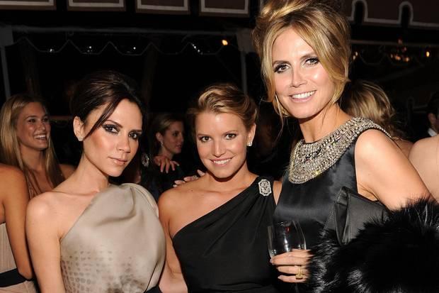 """Auch Stars wie Victoria Beckham, Jessica Simpson und Heidi Klum besuchen die """"Vanity Fair""""-Oscar-Party."""