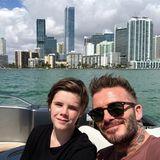 Happy Birthday, Cruz! Familie Beckham feiert den 14. Geburtstag ihres jüngsten Sohns mit einer sonnigen Bootstourin Miami.