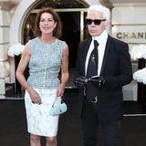 Ein Fan wie Prinzessin Caroline von Monaco lässt sich natürlich auch keine Eröffnung einer Chanel Schmuck Boutique in Monaco entgehen.