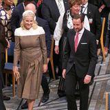 Bei der Friedensnobelpreisverleihung zeigt sich Kronprinzessin Mette-Marit in einem topaktuellen Kleid von Fendi - ein für sie eher ungewöhnlicher Look.