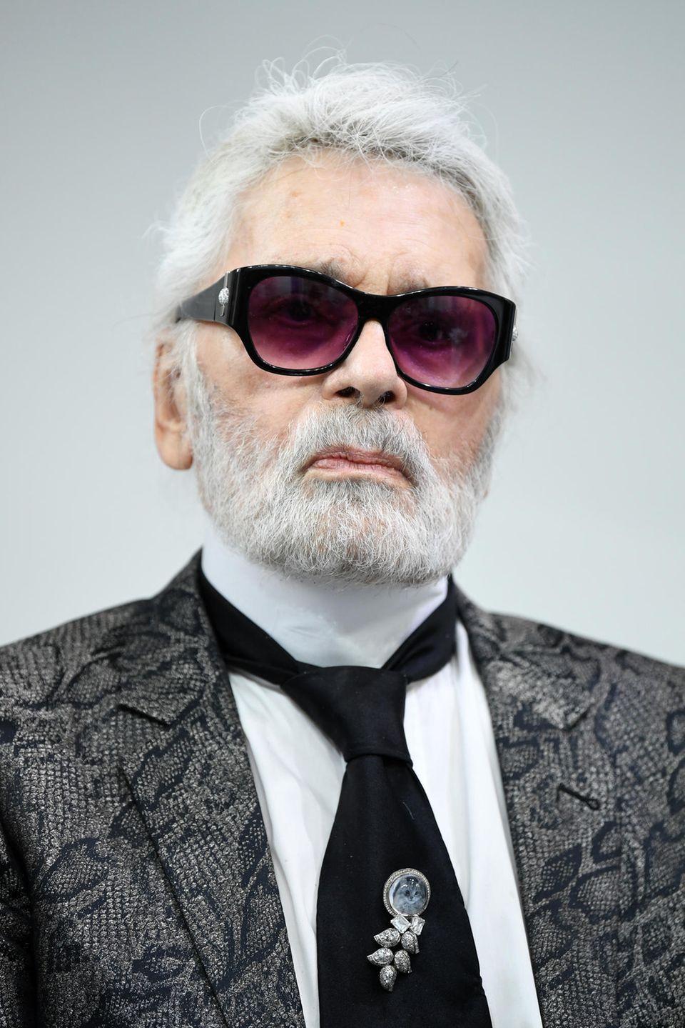 Karl Lagerfeld (†) im Juni 2018