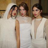 Die Models nach der Show von Genny in Mailand.