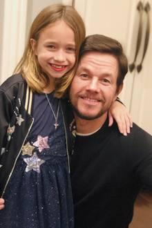 23. Februar 2019  Hollywoodstar Mark Wahlberg posiert mit seiner süßen Tochter Grace.