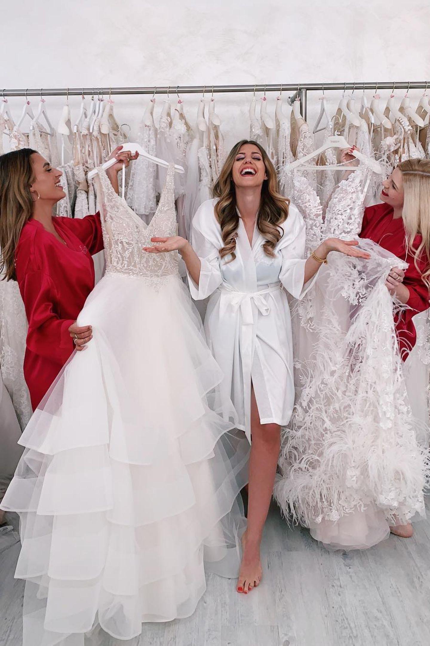 Sarah Harrison: Mehrere Brautkleider für ihre Hochzeit mit Dominic
