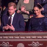 """16. Januar 2019  Prinz Harry und Herzogin Meghan während der Premiere des """"Cirque du Soleil""""-Stücks """"Totem"""" in der Royal Albert Hallin London."""
