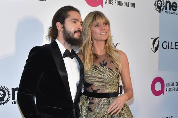 Tom Kaulitz und Heidi Klum - Deutschlands Glamour-Paar bei der Oscar-Party von Elton John