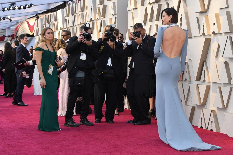 Der Preis für die schönste Rückenansicht an diesem Abend geht an Schauspielerin Charlize Theron.