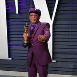 Regisseur Spike Lee ist im seinem purpurfarbenen Oscar-Outfit auffälliger als sein Goldjunge selbst.