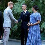 Denn Meghan und Harry sind zum Abschluss ihres Marokko-Trips noch einmal Gäste im Königspalast in Rabat. Bei ihrer Ankunft an der royalen Residenz wird das britischen Herzogenpaar von KronprinzMoulay Hassan begrüßt.
