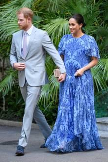 Prinz Harry undHerzogin Meghan haben sich am letzten Abend ihrer Marokko-Reise schick gemacht.