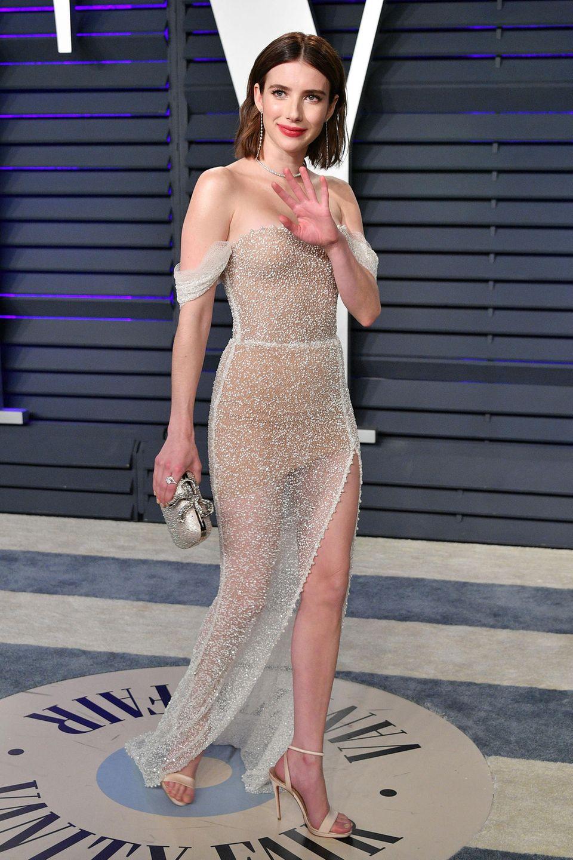 Ein Hauch von Glamour: Emma Roberts trägt Yanina Couture