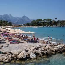 Strandurlaub in der Türkei.