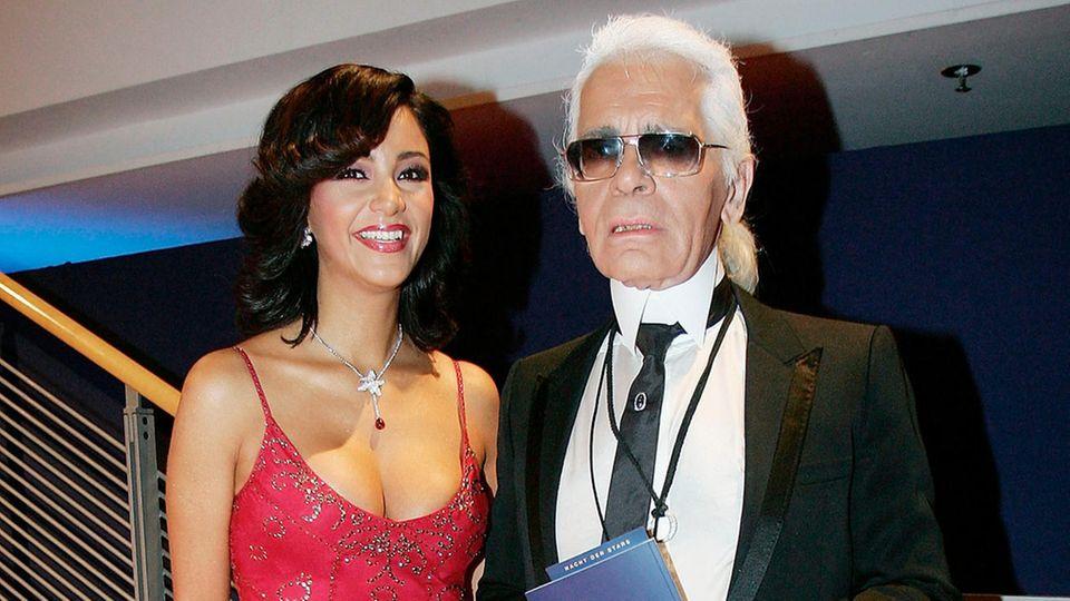 Verona Pooth und Karl Lagerfeld