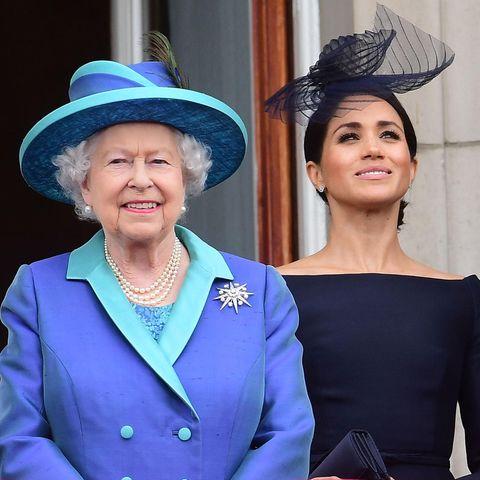 Die Queen und Herzogin Meghan