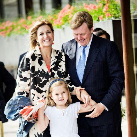 2010: Königin Máxima, König Willem-Alexander und Prinzessin Amalia