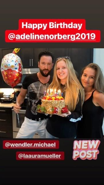 Michael, Adeline und Laura feierten zusammen