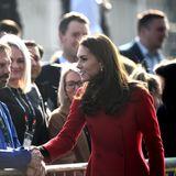 Erst als das royale Power-Paar irischen Boden betreten hat, veröffentlichtder Kensington Palast die Information über ihre Reise. Trotzdem haben sich viele Schaulustige vor dem Belfaster Fußballstadion Windsor Park zusammengefunden, um Kate und William die Hand zu schütteln.