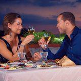 Das letzte Date vor dem großen Finale:Ein gemeinsames Abendessen mit intensiven Gesprächen rundet den gelungenen Tag für Jennifer und Andrej ab.