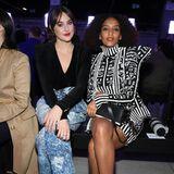Hollywoodstar Shailene Woodley und Tais Araujo sitzen in der Front Row bei Balmain.