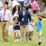 25. März 2018  Das letzte Mal sieht man die 5-köpfige Familie fast ein ganzes Jahr zuvor zusammen, als sie beim Finale der Golf-WM zugucken.