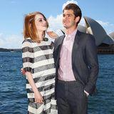 """Emma Stone +Andrew Garfield   Für das Remake von """"Spider Man"""" sollen Emma und Andrewdas Liebespaar nur spielen. Kurz nach dem Dreh zeigen sie sich allerdings auch im echten Leben als Paar. Leider geben sie 2015 ihre Trennung bekannt. Die Beziehung hieltvier Jahre."""