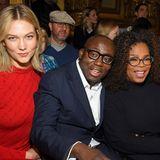 Karlie Kloss, Edward Enninful und Oprah Winfrey kuscheln in der Front Row bei Stella McCartney.