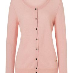 Cashmere BasicCardigan rose, Langarm aus 100% Cashmere.In weiteren Farben im HSE24-Onlineshoperhältlich. Preis 139,99 Euro. .